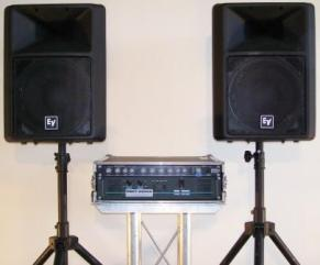 AT Mixer and EV-SX200 Speakers