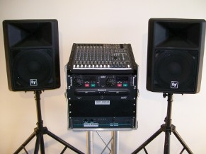 Mackie Sound System with EV-SX200 Speakers